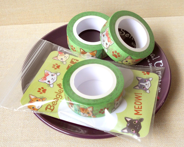 Cute cats washi tape planner decoration kawaii washi for Decoration masking tape