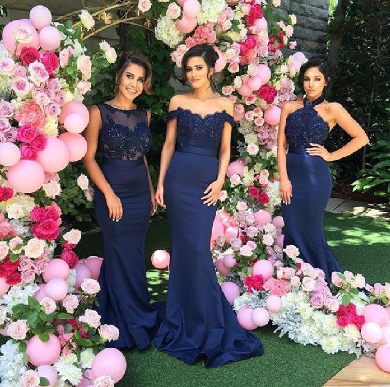Mismatched navy lace mermaid bridesmaid dresses cheap long custom mismatched navy lace mermaid bridesmaid dresses cheap long custom bridesmaid dresses 17309 ombrellifo Image collections