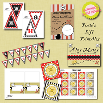 Full Collection - Pirate Party Printables