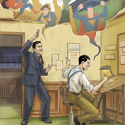 Siegel & shuster superman print