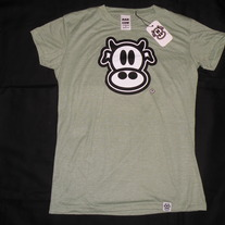 MAD COW LOGO-WOMENS (HEATHER GREEN)