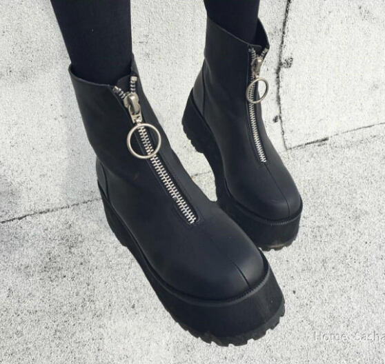 e7ca6aa09fc5d3 CYBER PUNK PLATFORM BOOTS WITH ZIP · Foreveronline · Online Store ...