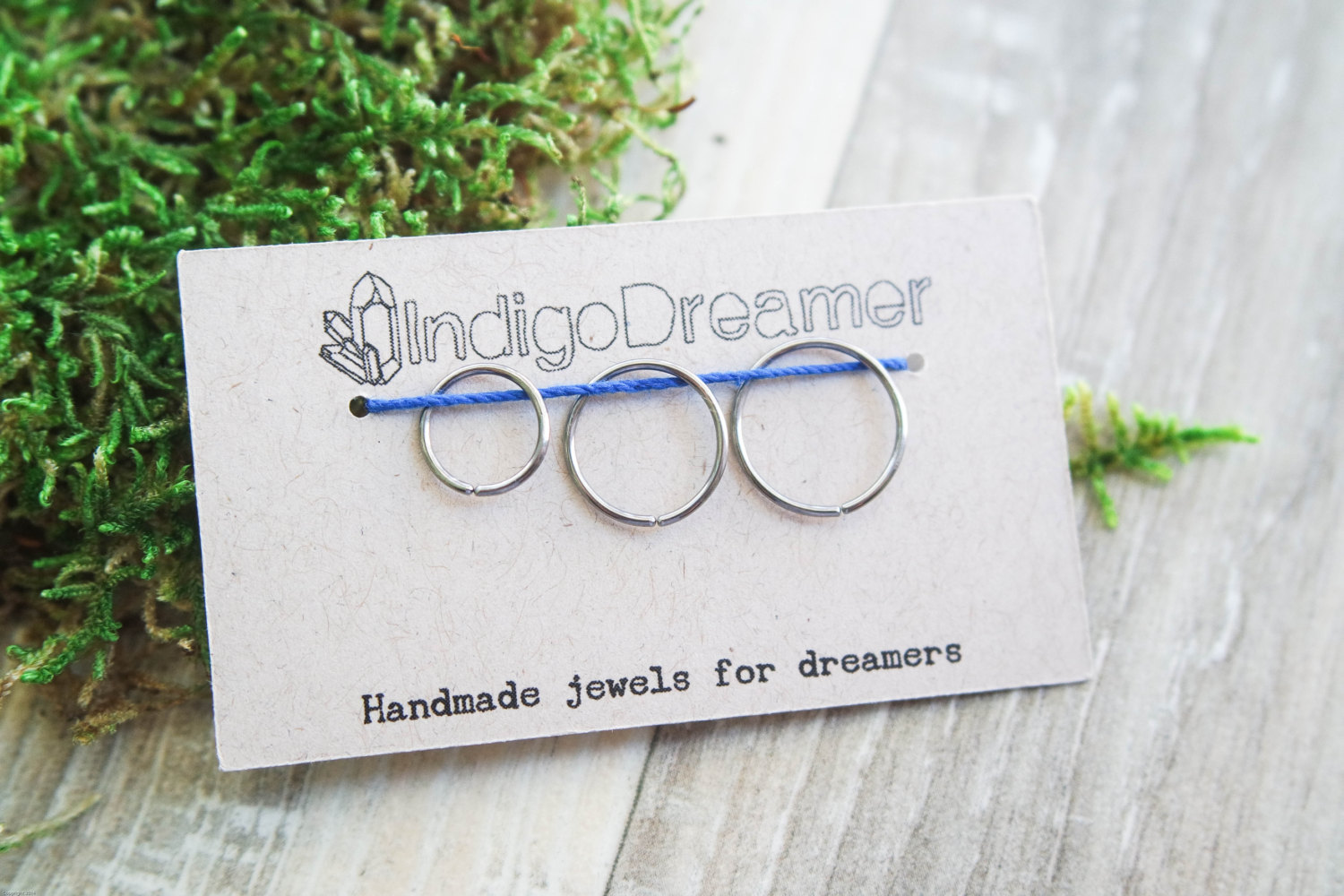 Endless hoop earring | Titanium hoop earrings | Simple wire hoop ...