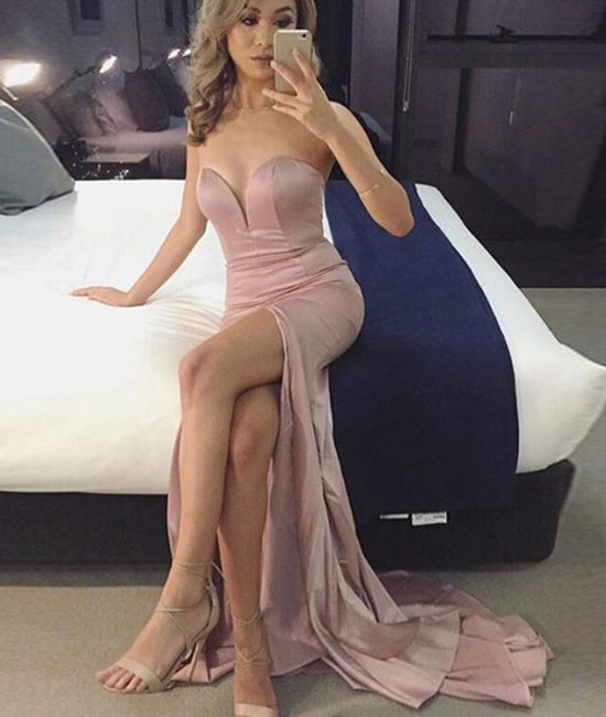 Silk Dress with Slit