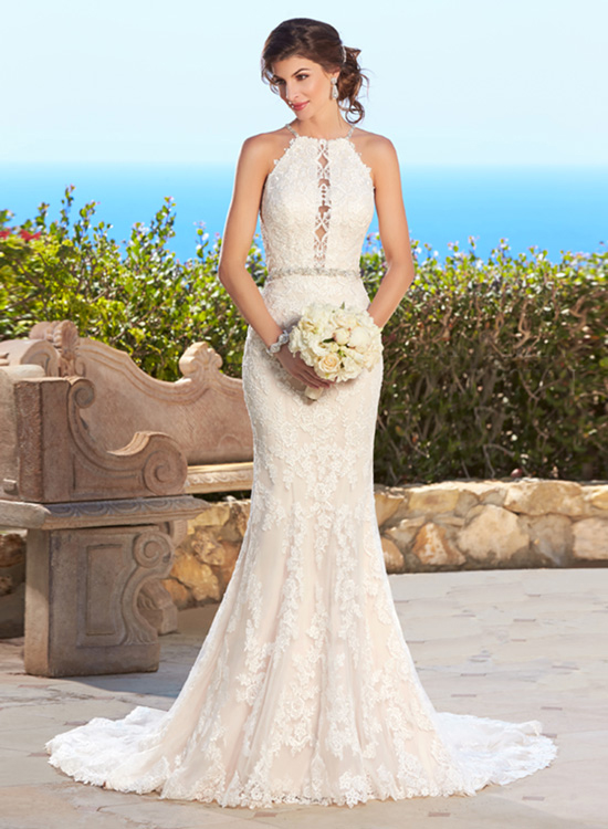 H244 Vintage 2017 Long Sleeve Mermaid Wedding Dresses for Bride Lace ...