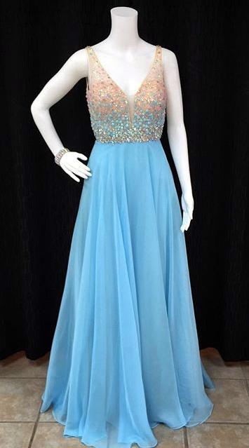 Prom Dress Wtih V Neckline Prom Dresses Graduation Party Dresses