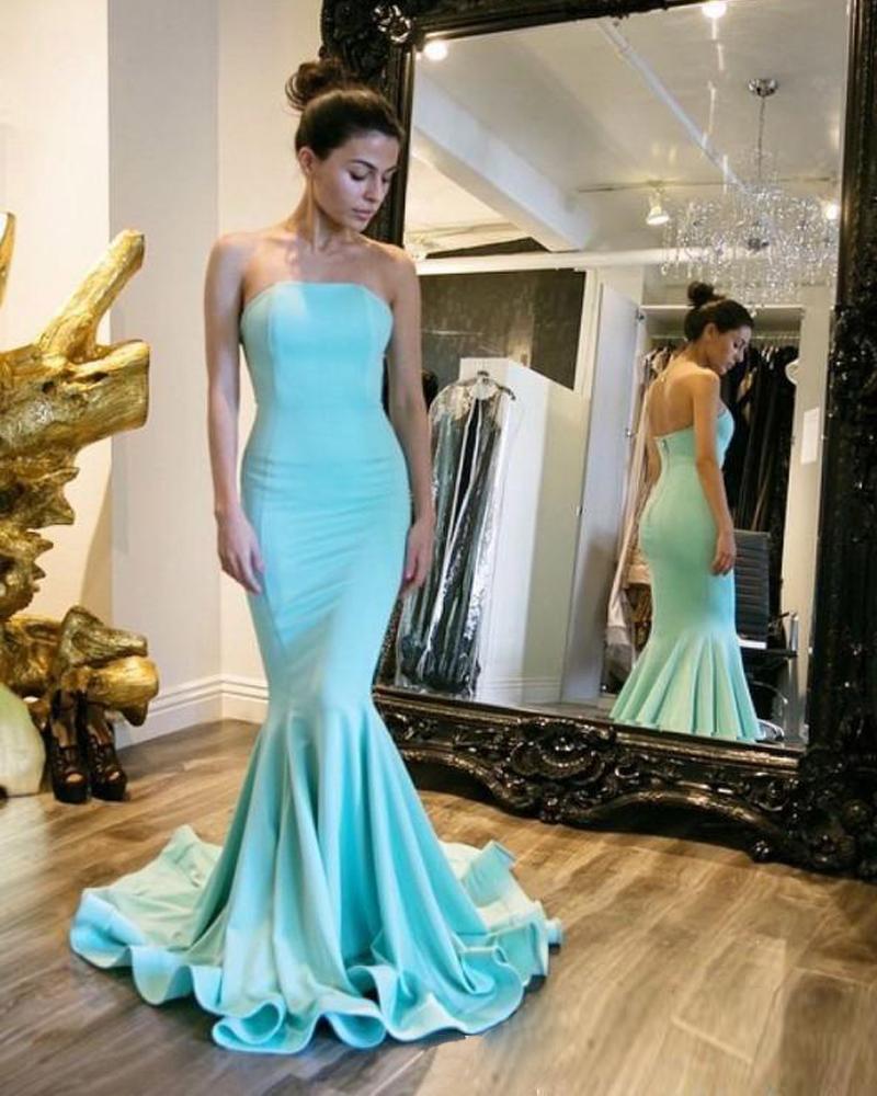 Blue Mermaid Long Dresses