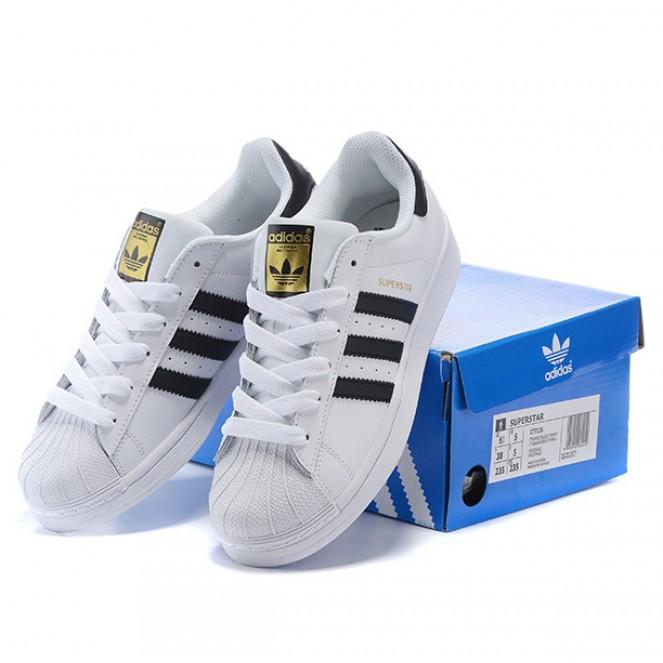 a51b3634ec3 ... Fashion Adidas Superstar classic white black gold casual shoes -  Thumbnail 4