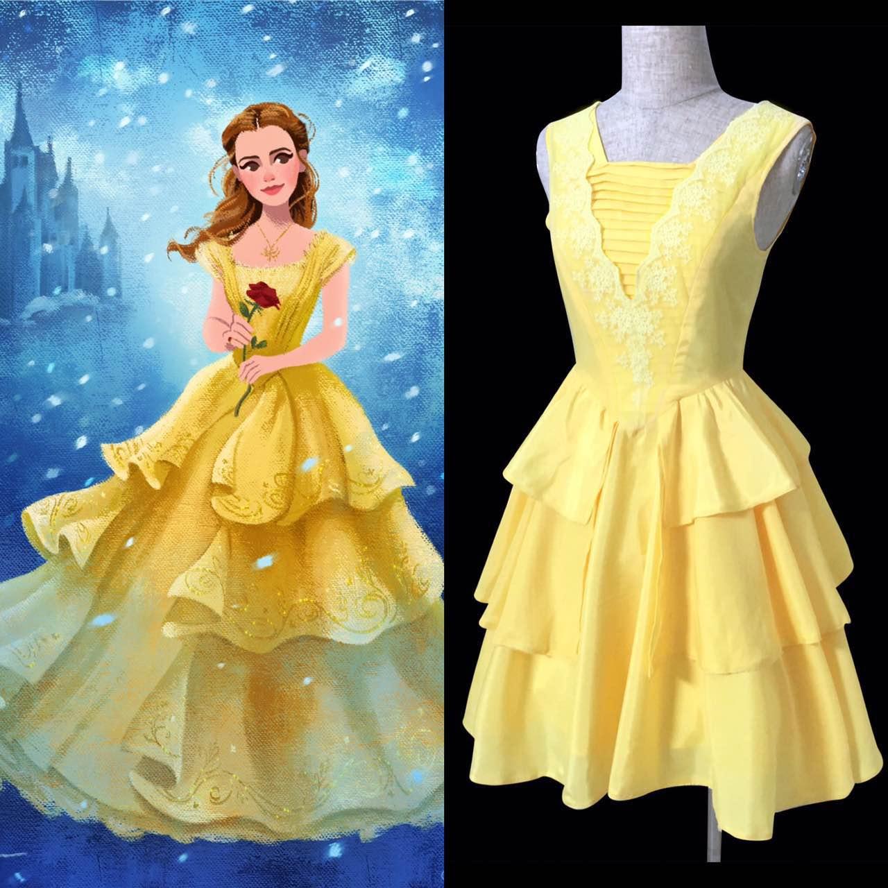 bm110 belle 2017 yellow dress disneybound 183 angelsecret