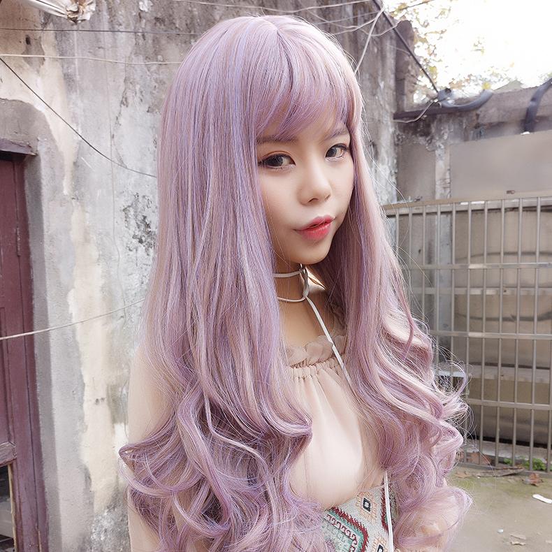 Mori Boutique Bangs Cosplay Wigs Harajuku Curly Long Hair Mg346