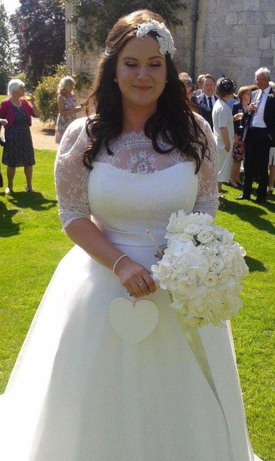 D287 Plus Size Wedding Dresses, Half Sleeve Wedding Bridal Gowns ...