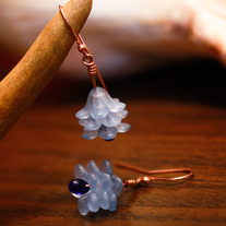 3 Layered Floral Drop Earrings