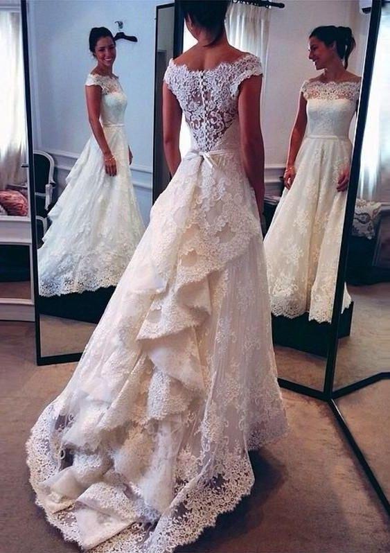 Vintage White Bridal Dresses