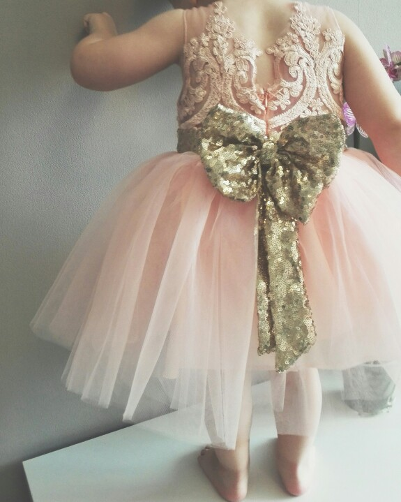 Sequin bow and tutu dresssequined bow girls dress pink and gold sequin bow and tutu dresssequined bow girls dress pink and gold flower girl mightylinksfo