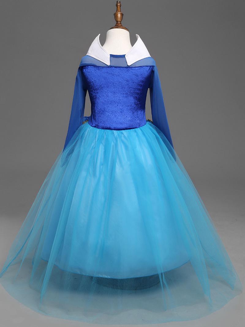 Aurora Princess Sleeping Beauty Cosplay Girls Blue Fancy Dress Kids ...