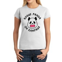 Junior Fit Ladies' T-Shirt - Kawaii Rogue Panda on Rampage