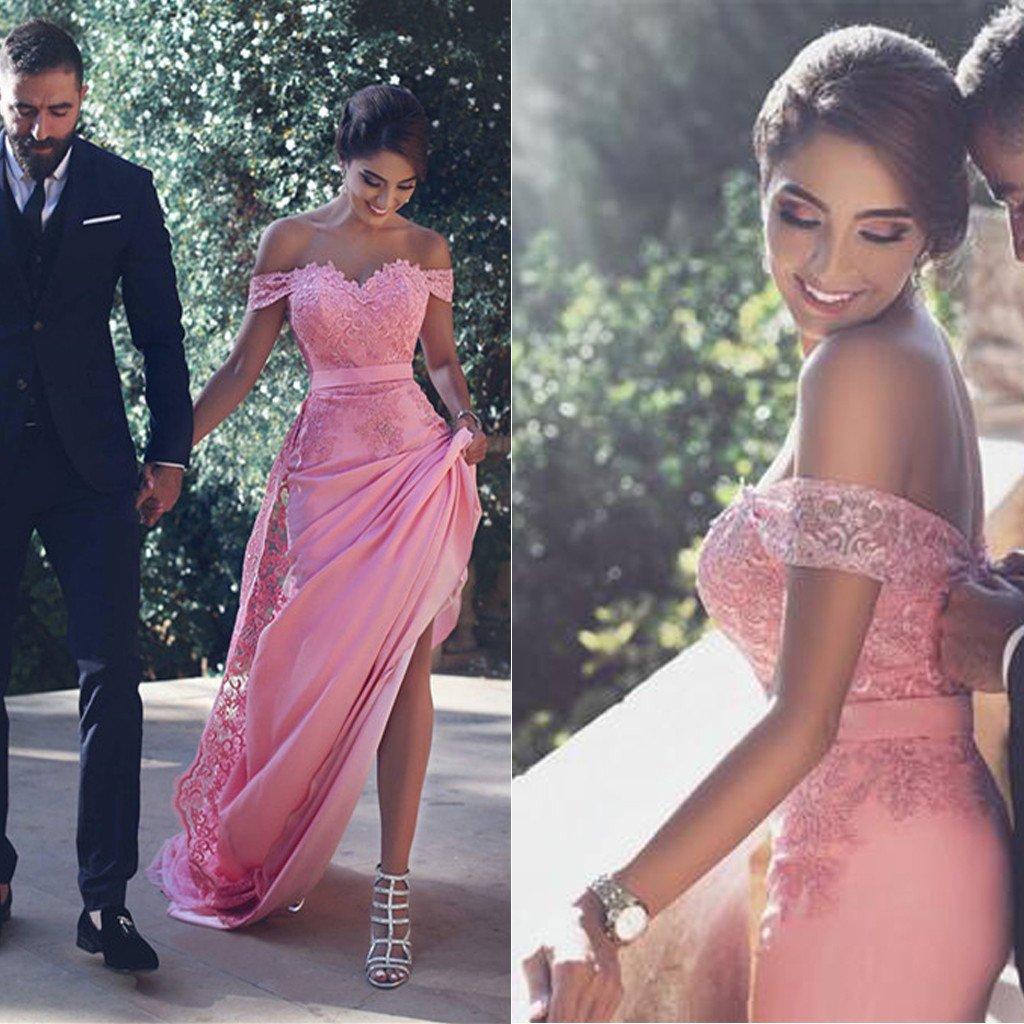 Sexy Prom Dress,Off Shoulder Prom Dress,Long Sleeve Prom Dresses ...