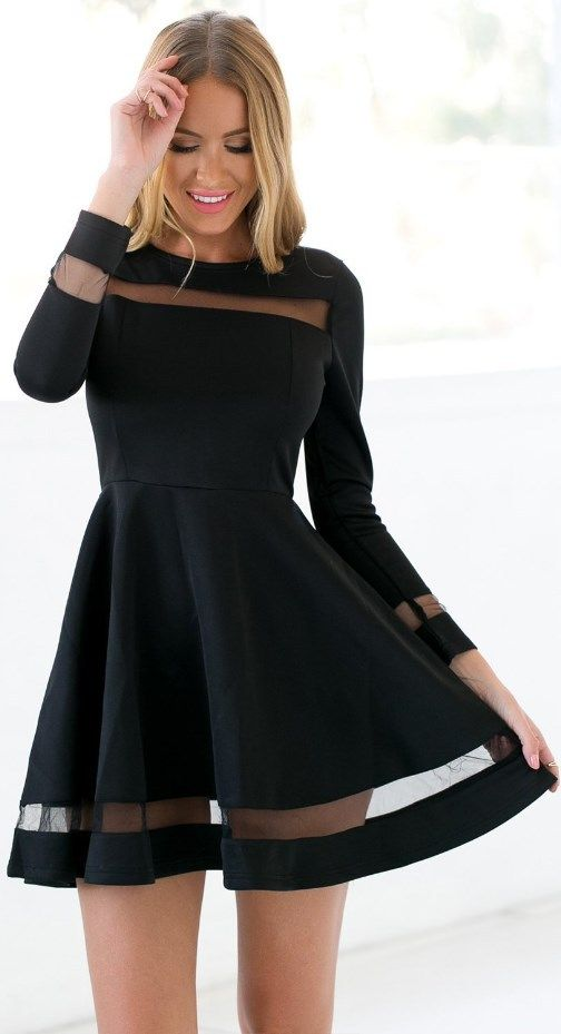 Black Homecoming Dressshort Party Dresslong Sleeves Tulle Formal