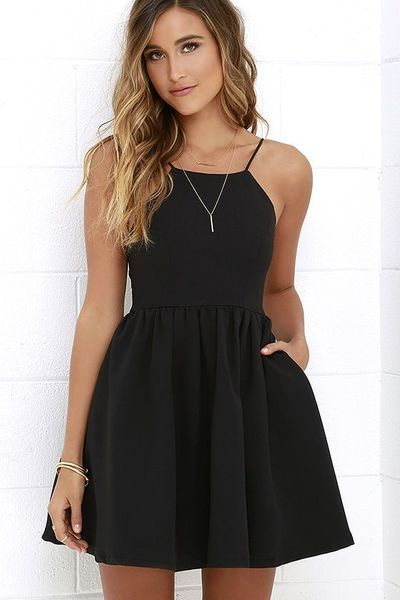 short Prom Dresses,Black short prom dress,cute homecoming dress ...