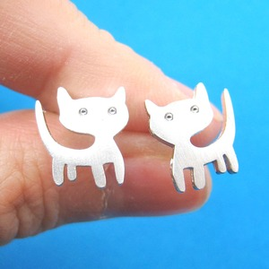 Super Cute and Simple Kitty Cat Animal Stud Earrings - Allergy Free
