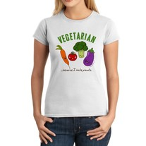 Junior Fit Ladies' T-Shirt - Kawaii Vegetarian - Scared Vegetables