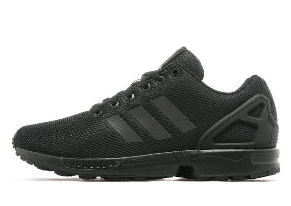 2efa019684ca ... Fashion Adidas Originals ZX Flux Women s Men s All black Sneaker -  Thumbnail ...