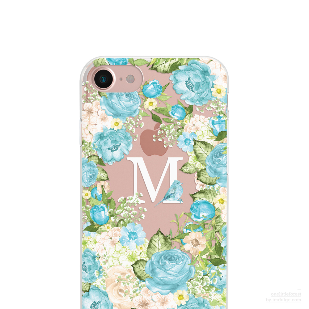 Something Blue Personalize Clear Soft Case Iphone Xs Max Iphone Xr Iphonex Iphone 8 Iphone 7 Iphone 7 Plus Iphone 6 Iphone Se 5 5s From