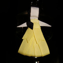 Belle of Beauty and the Beast Princess Inspired Ribbon Sculpture Hair Clip Boutique Bow
