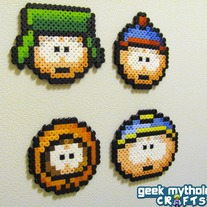 Set of 4 South Park Bead Sprite Decorative Magnets
