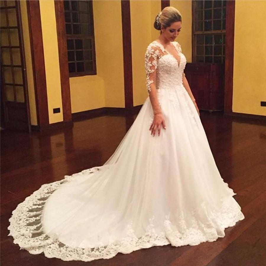 WD67 Appliques Wedding Dresses,Wedding Dress,Custom Made Wedding ...