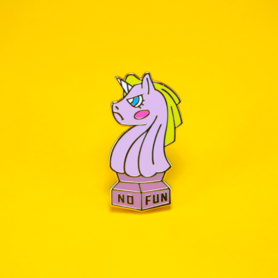 no fun unicorn pin thumbnail 2 - Bubble Jug
