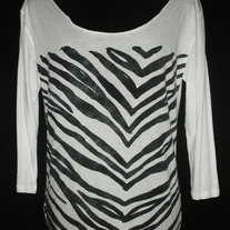 Off the Shoulder Zebra Print Shirt-Victoria Secret PINK