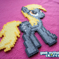 Derpy Hooves -  My Little Pony Perler Bead Sprite