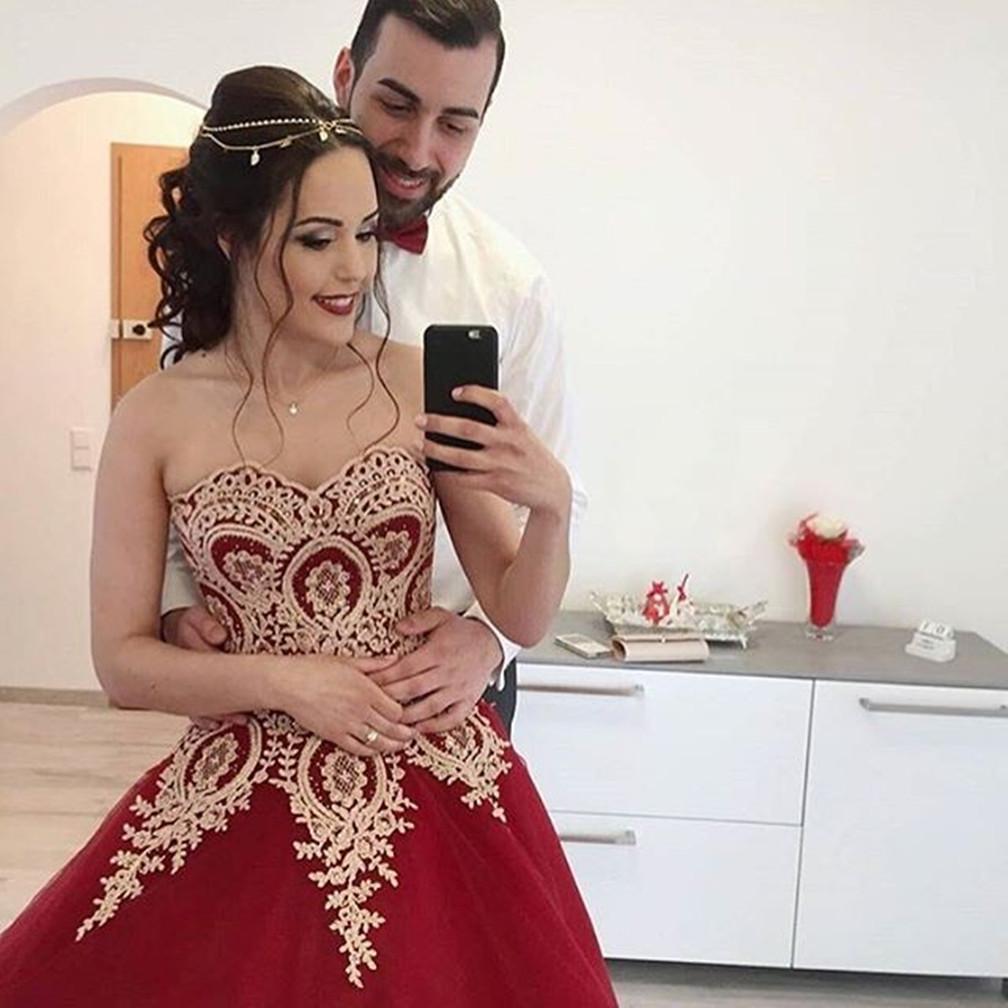 wine red wedding Quinceanera Dresses Vestidos de 15 anos Aqua ...