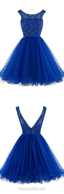 Lovely Prom Dress,Short Prom Dresses,Royal Blue Homecoming Dress ...