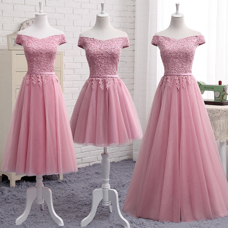 of girl | Cute a line lace off shoulder prom dress, lace evening ...