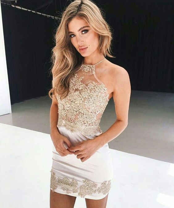 Tight Sparkly Homecoming Dresses
