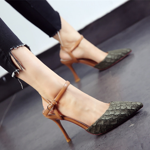 new pointed shoes sexy serpentine with high heels fight