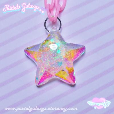 Holographic Jelly Star Necklace ☆彡 01
