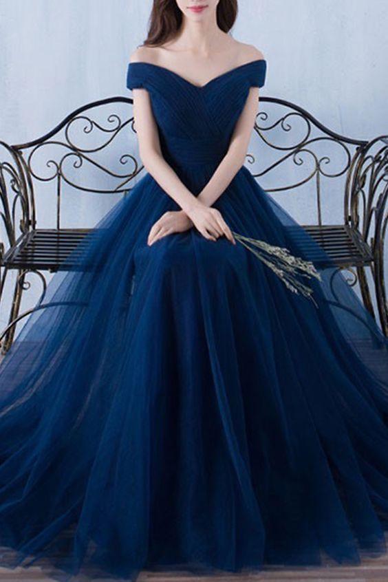 Off The Shoulder Floor Length Elegance Prom Dresses Asd2490