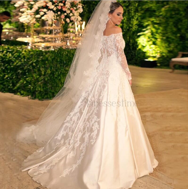 Classic Satin a Line Wedding Dresses