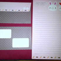 Pig Rabbit Letter Set