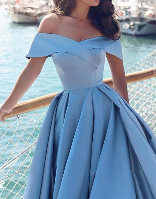 Light Turquoise Prom Dress