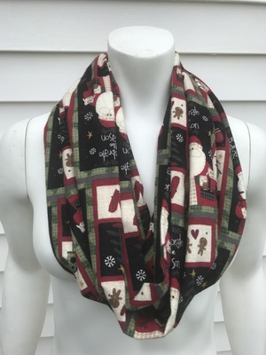 santa clause christmas toddler kids womens flannel infinity scarf