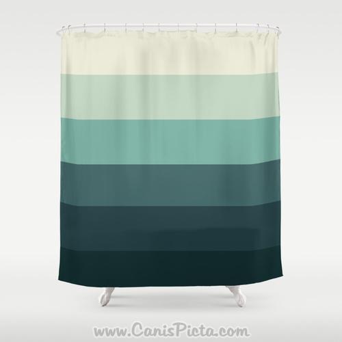 Shower Curtain Da Ba Dee Ombre 71 X 74 Mint Aqua Turquoise