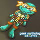 Michelangelo Teenage Mutant Ninja Turtles Chibishou Perler Bead Sprite - Thumbnail 1
