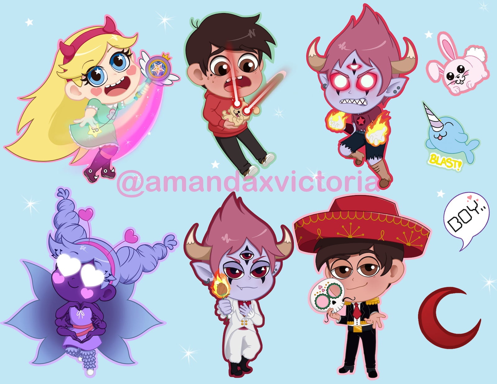 star vs the forces of evil sticker sheet amanda victoria online