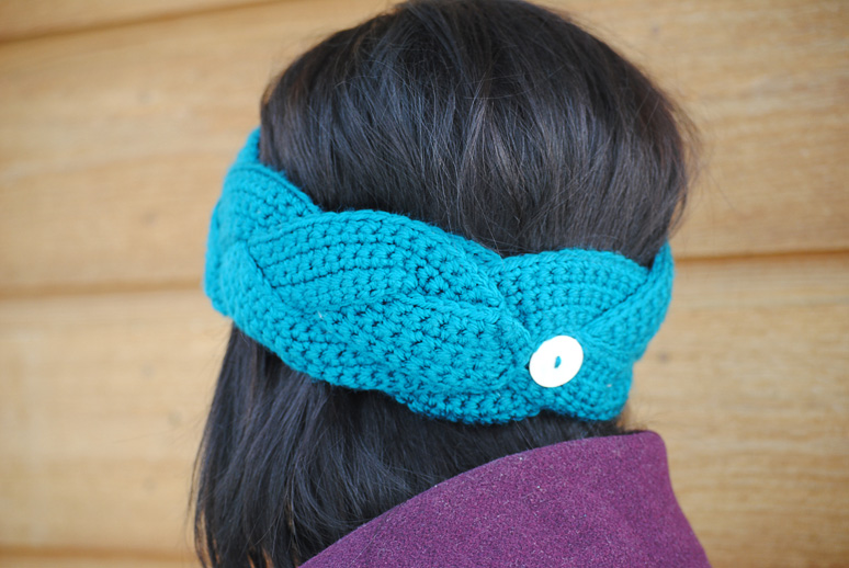 Free Crochet Braided Ear Warmer Pattern : Crochet Headwrap Pattern images