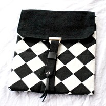 Ipad Case Sleeve - Black & White Checks - Mother's Day Special - Was $42 Now $20