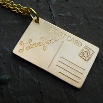 I love you Postcard Necklace